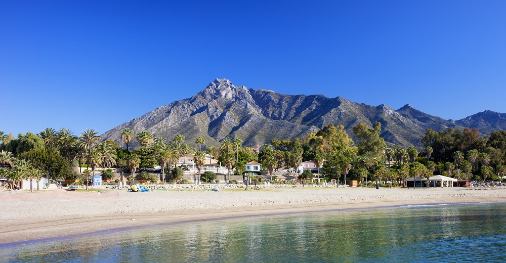 Marbella Beach on Costa del Sol in Spain